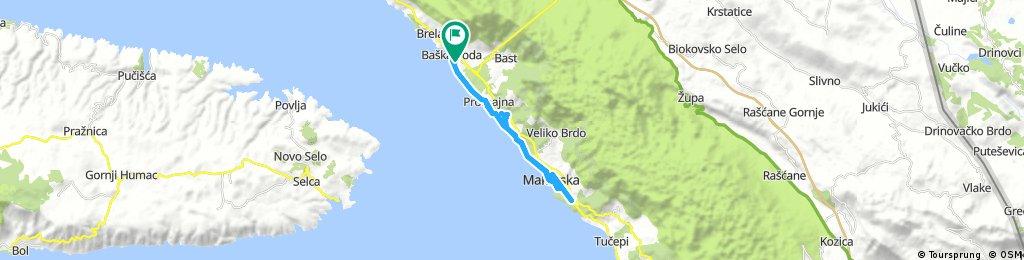 ride through Baška Voda