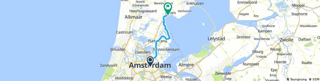 Lengthy ride through Hoorn