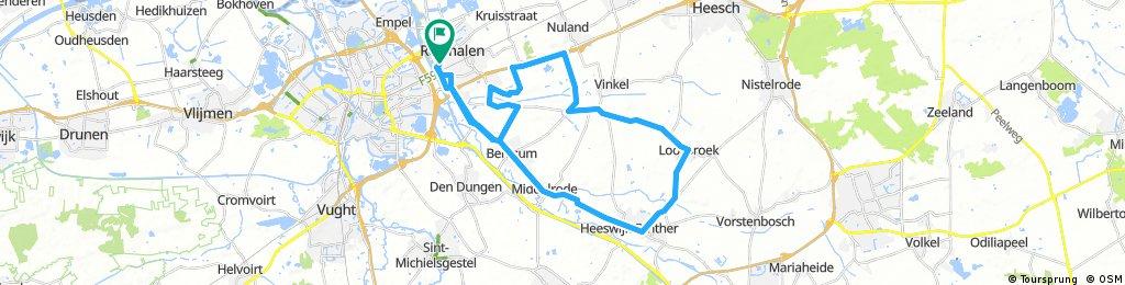 Lengthy ride through 's-Hertogenbosch