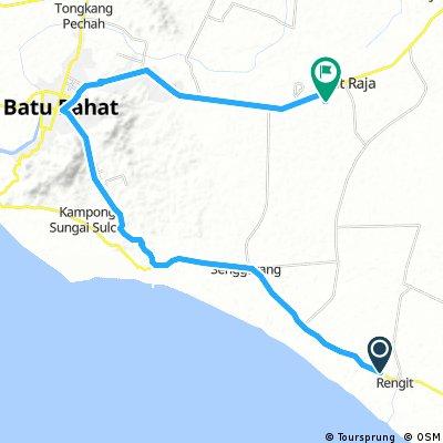 Long ride through Parit Raja
