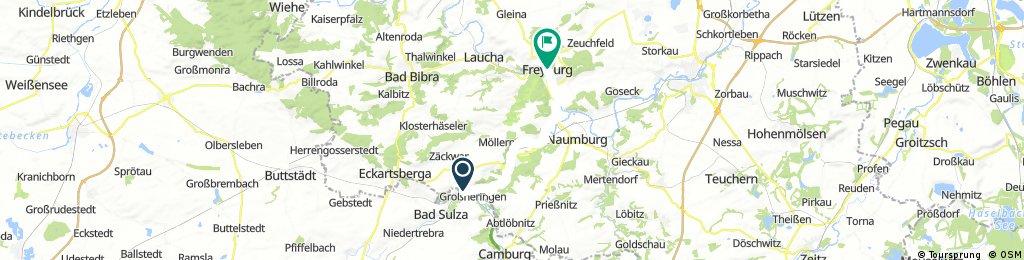 Ausfahrt von Großheringen nach Freyburg (Unstrut)