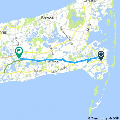 bike tour from Chatham to Dennis