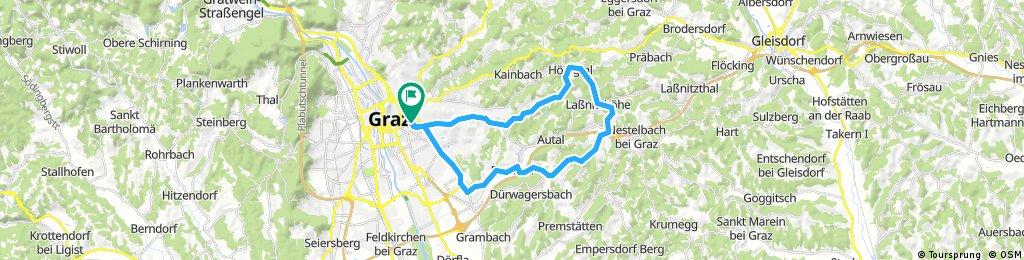 Lange Ausfahrt durch Graz