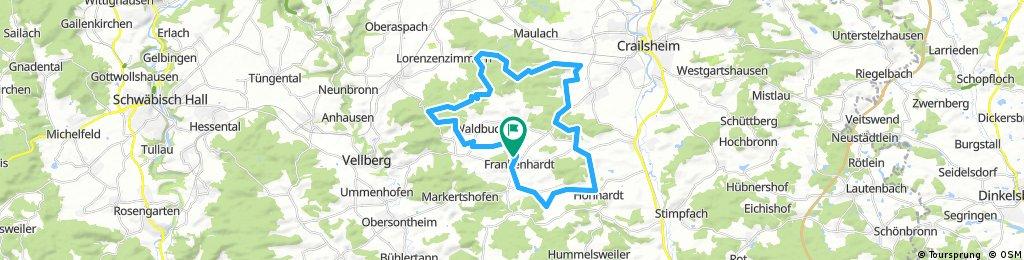 Lange Radrunde durch Frankenhardt