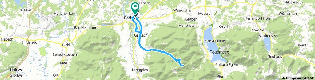 Von Bab Tölz über Gaißach nach Aueralm und zurück