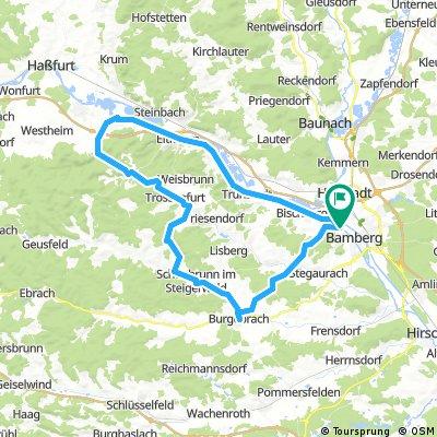 Steigerwald-Runde von Bamberg aus