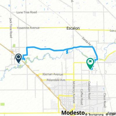 bike tour from Ripon to Riverbank
