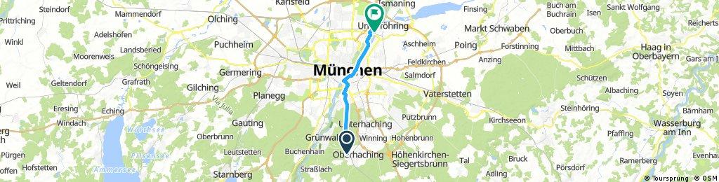 Ausfahrt durch München