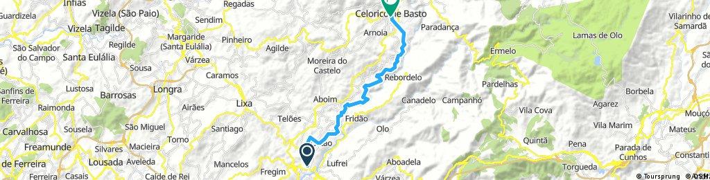 ride from Amarante to Celorico de Basto