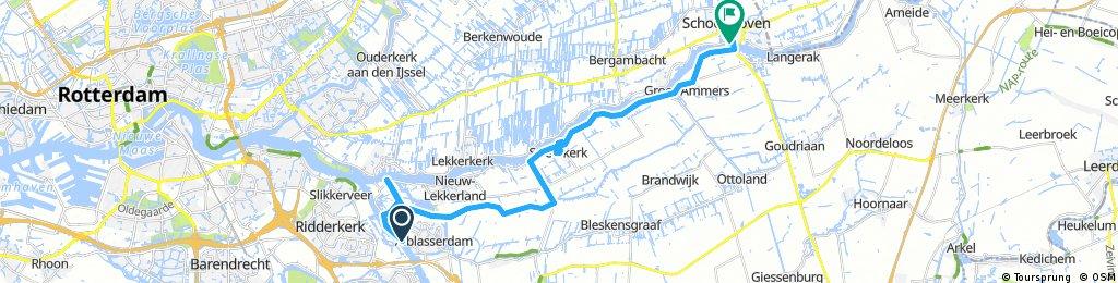 Long ride from Alblasserdam to Schoonhoven