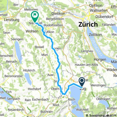 Zug - Rotkreuz - Bremgarten - Niederwil AG