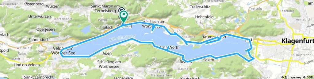 Lengthy bike tour through Techelsberg am Wörther See