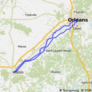 Cycling routes and bike maps in and around Blois Bikemap Your