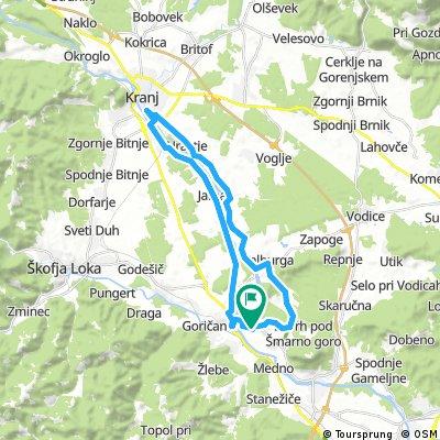 Pirniče-Kranj-Pirniče 8. avgust 18:14