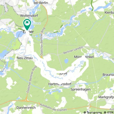 Training Radstrecke Erkner-Triathlon