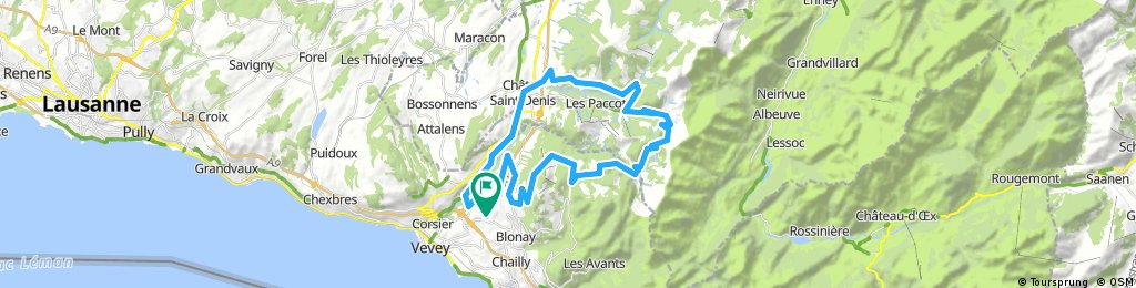 Lengthy bike tour through St-Légier-Chiésaz