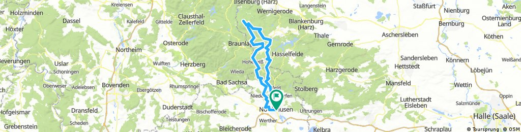 Nordhausen-Brocken-Nordhausen