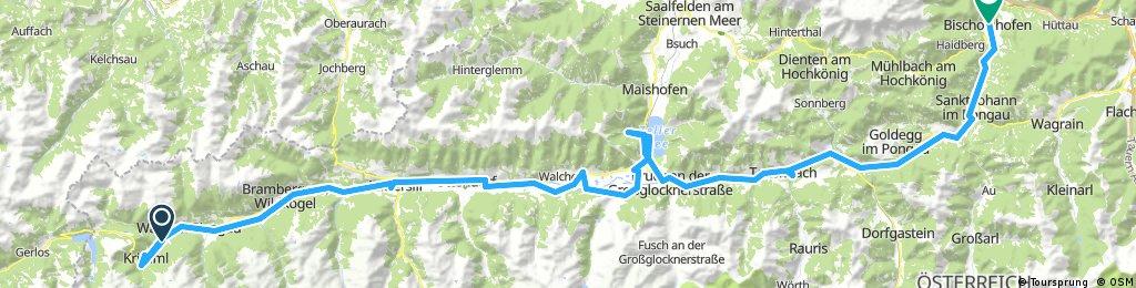 Tauernradweg Krimml-Bischofshofen