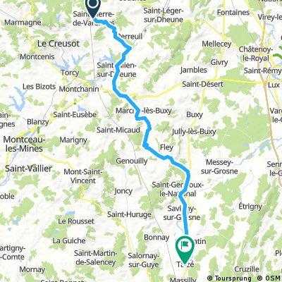 Etape 9 Saint-Pierre-de-Varennes Taizé
