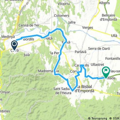 1e etappe, Girona (Celra) - Peratallada (Hostel Blau), 6 etappes, versie 1