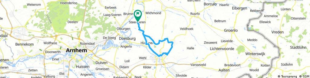 Long bike tour through Steenderen