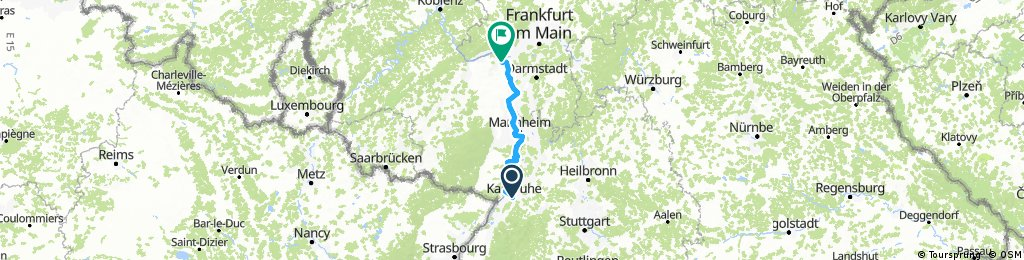 Karlsruhe-Mainz, 159 Km, Komoot