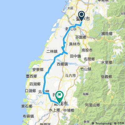 2017單車環島第二天-臺中~嘉義