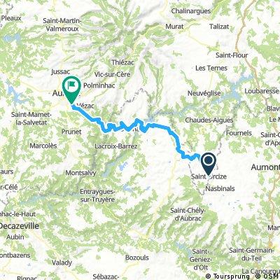 Lengthy ride through Arpajon-sur-Cère