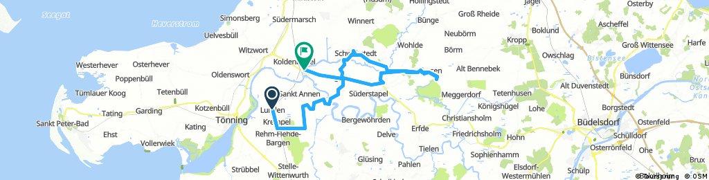 Lange Radrunde von Lunden nach Friedrichstadt