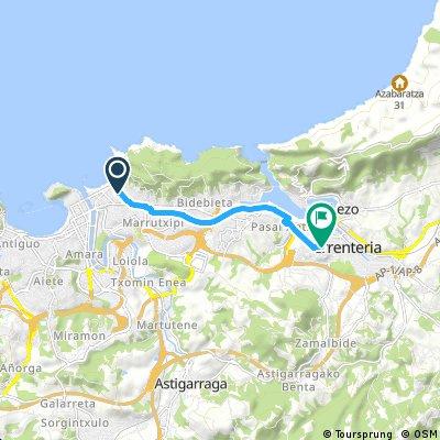 Brief ride from San Sebastián to Errenteria