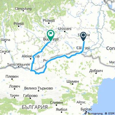 Ciulnita - Calarasi - Silistra - Ruse - Svishtov - Zimnicea - Bucuresti