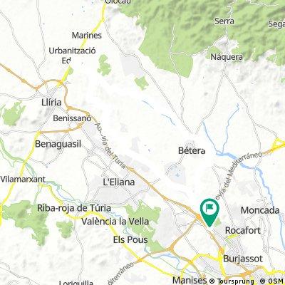 Kinepolis - Urb. Monte Jarque - Betera por Campo de Tiro La Pobla