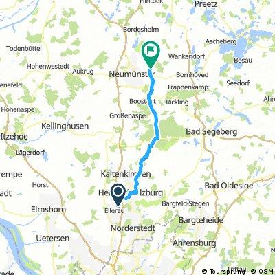 Lange Ausfahrt von Ellerau nach Bönebüttel