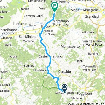 Etape 3 : San Gimignano - Vinci (proche)