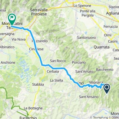 Etape 4 : Vinci ( proche) - Montecatini Terme