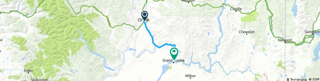 Omak to Coulee Dam