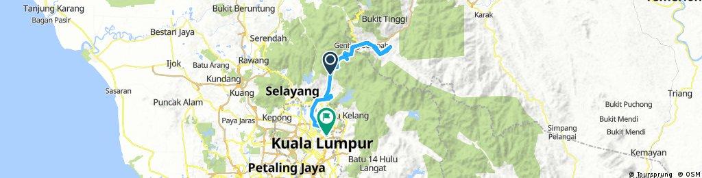 Lengthy bike tour through Kuala Lumpur