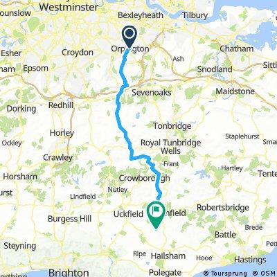 Orpington to Dernwood Camping