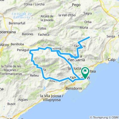 PIRENAICA MARINA BAIXA-Los 4 puertos:TUDONS-CONFRIDES-COLL RATES-GUADALEST