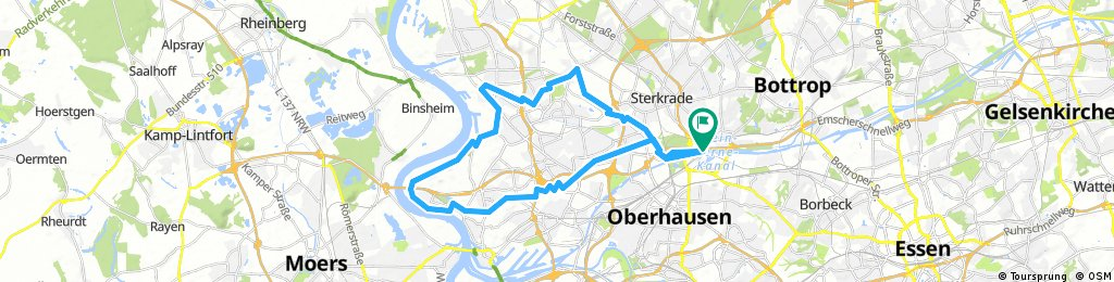 Rhein Herne Kanal Richtung Westen