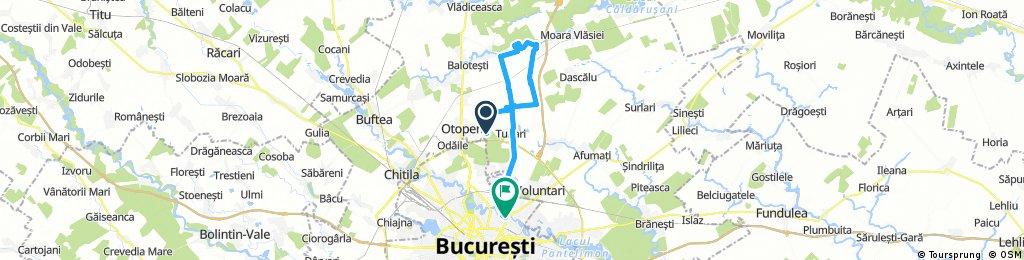 Long ride through Bucharest