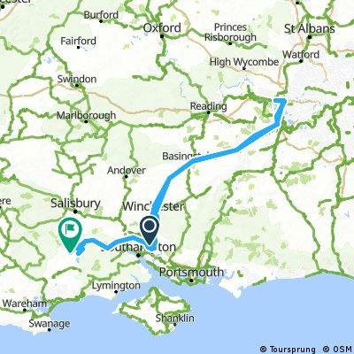 Long ride through East Dorset near Fordingbridge & Hyde New Forest.