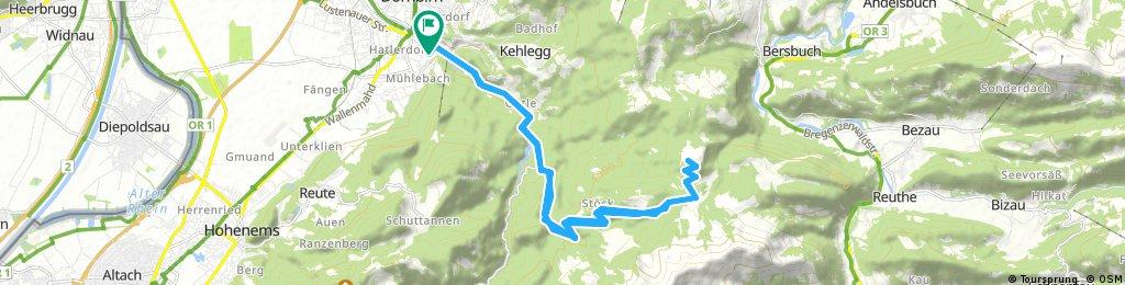 Dannerbruck - Rappenloch - Kobel - Weißenfluh