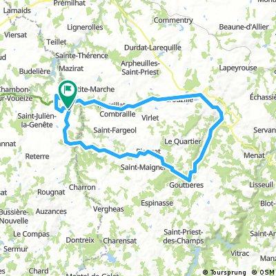 Evaux les Bains - 03 - 79 kms