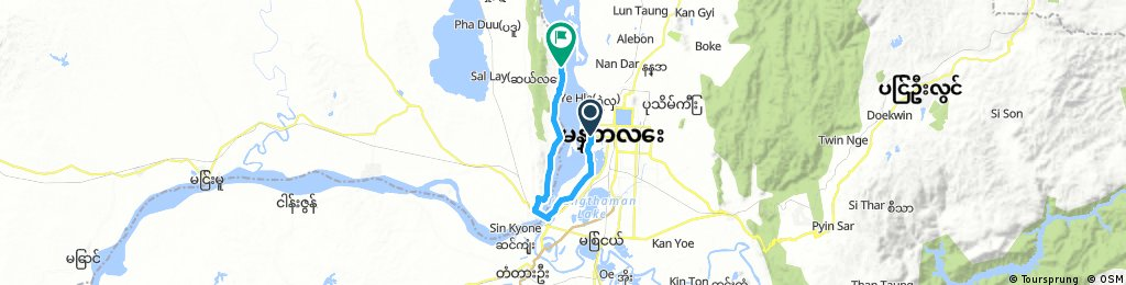 Mandalay to Sagaing by bike