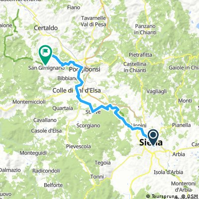 Siena - San Gimignano _Cycling rout