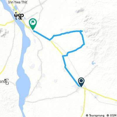 bike tour through Chaung-U