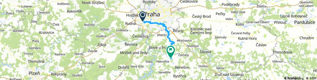 GreenWay Praha-Wien [Praha-Stodulky / Tynec nad Sazavou]