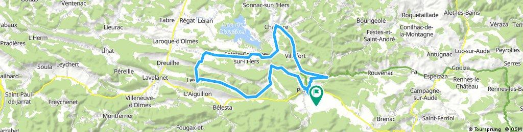 Lengthy bike tour through Puivert