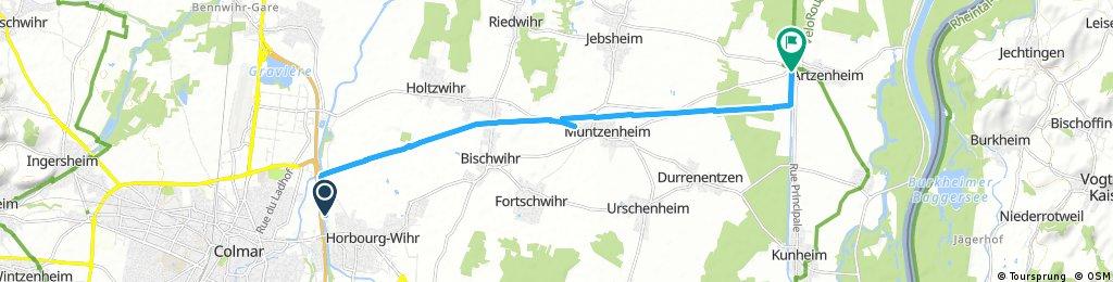 bike tour through Artzenheim
